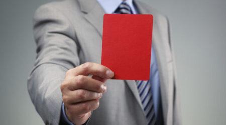 cartao vermelho