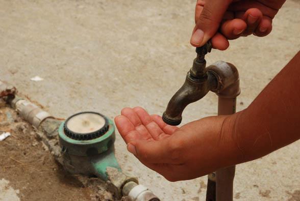 falta agua