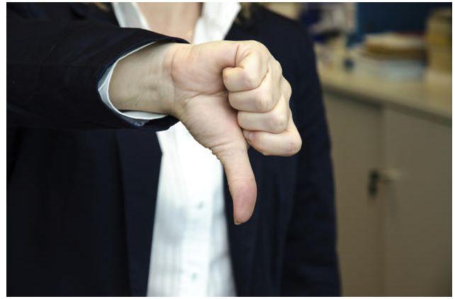 negativo polegar