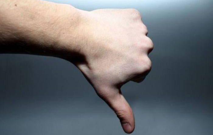 dedo negativo