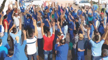 trabalhadores luta