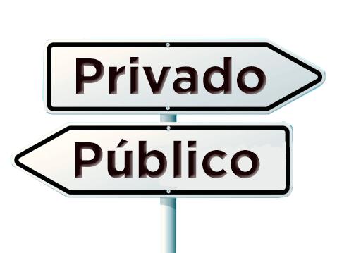 privado x publico